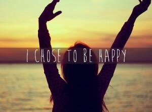 Geluk is een keuze